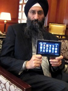 Suneet Singh Tuli, who runs Datawind, said his mission was to deliver low-cost internet